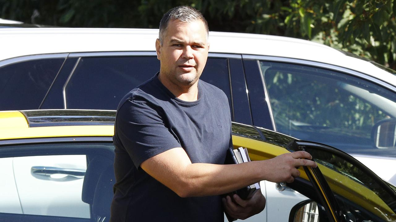 Broncos coach Anthony Seibold at Red Hill. Picture: Tertius Pickard