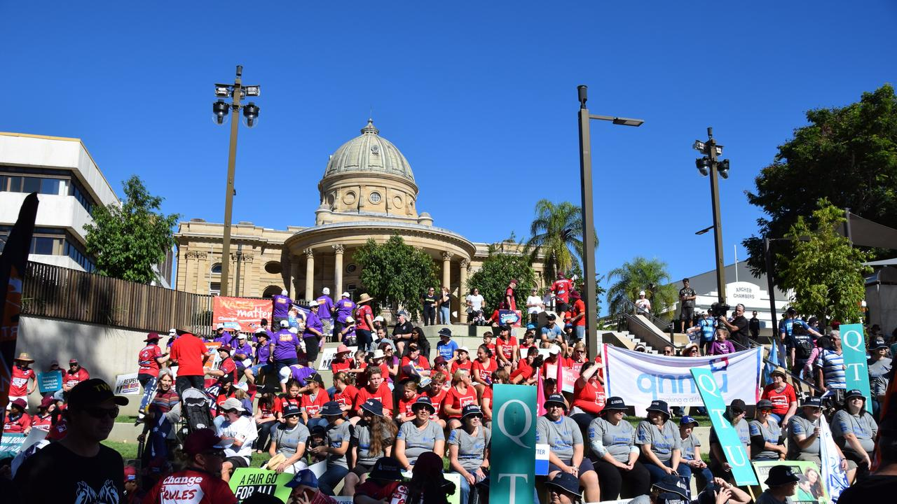 Labour Day march in Rockhampton in 2019