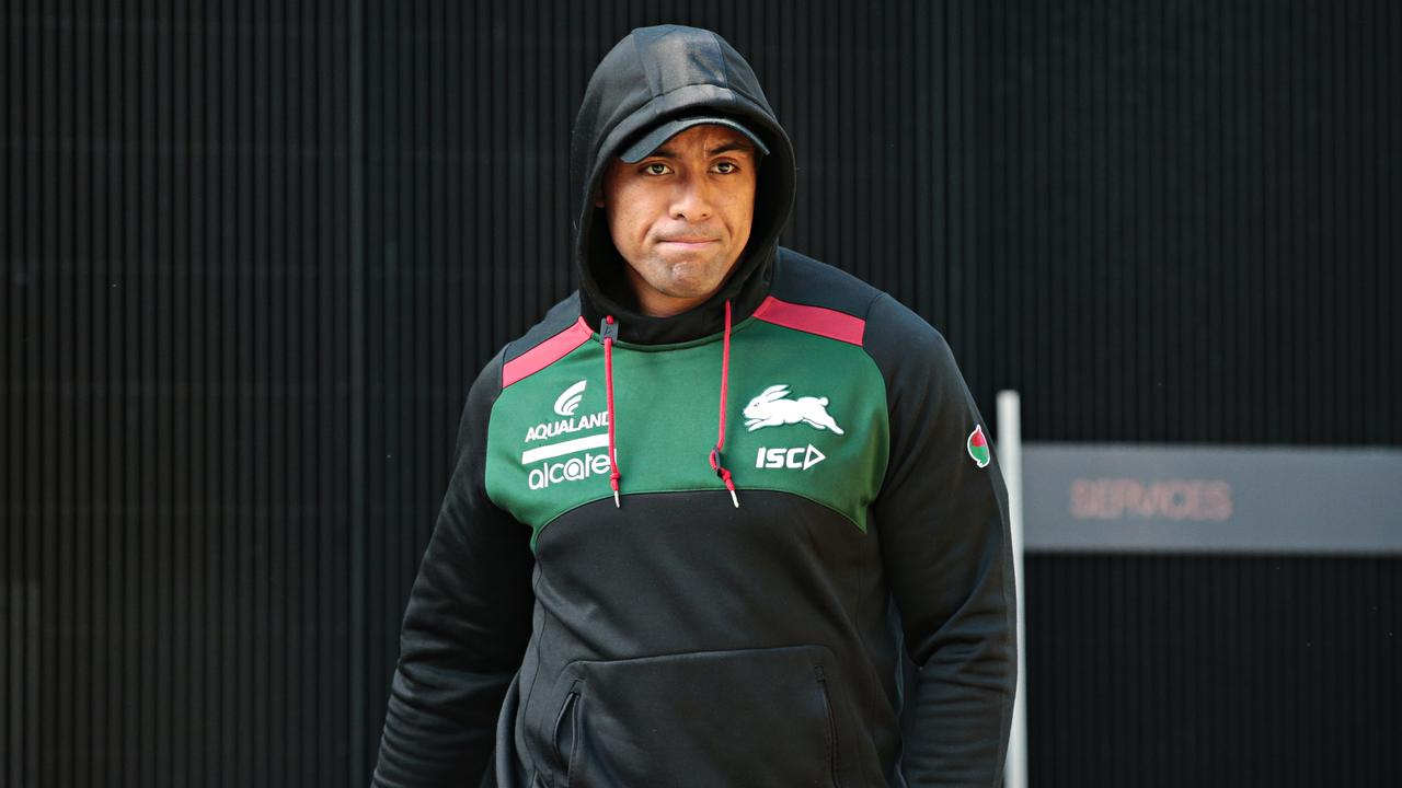 Tevita Tatalo arrives at Redfern Oval for the briefing.
