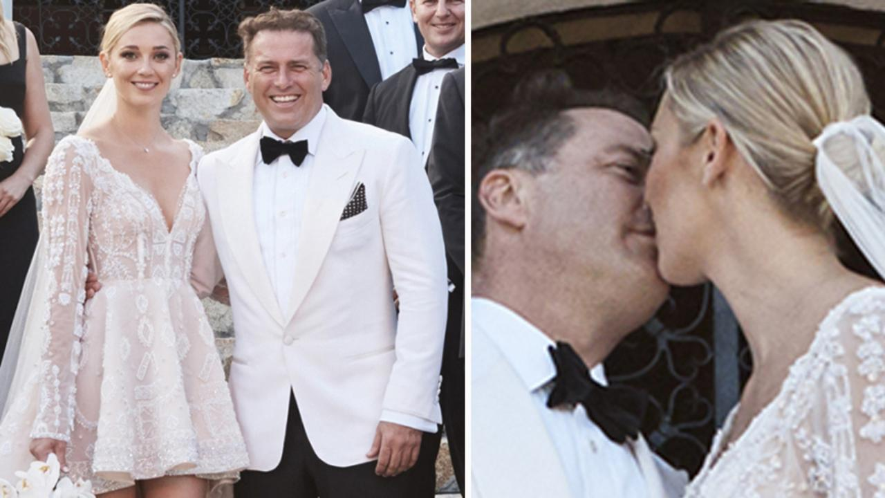 Karl Stefanovic and Jasmine Yarbrough's official wedding photos. Picture: Supplied