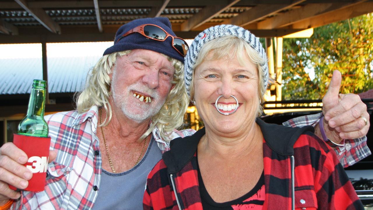 Bob and Carol Low of Poinsettia Ave, Mooloolaba, dress for their bogan night.