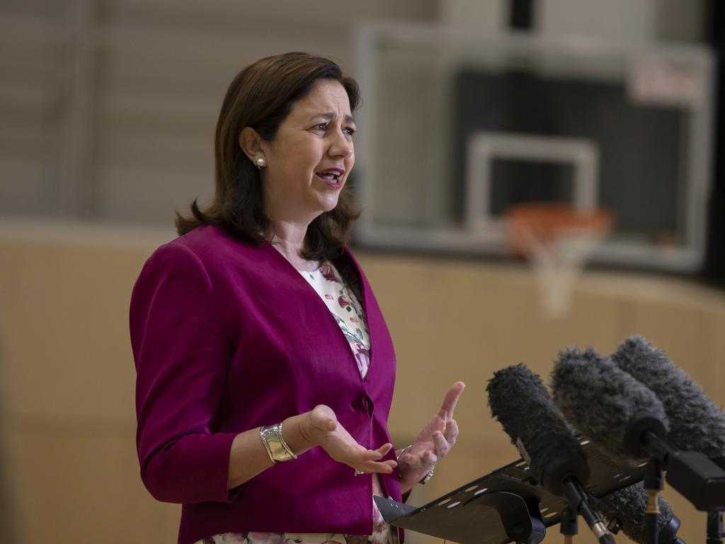 Premier Annastacia Palaszczuk announcing all Queensland students will return to school by May 25th. Photo Lachie Millard