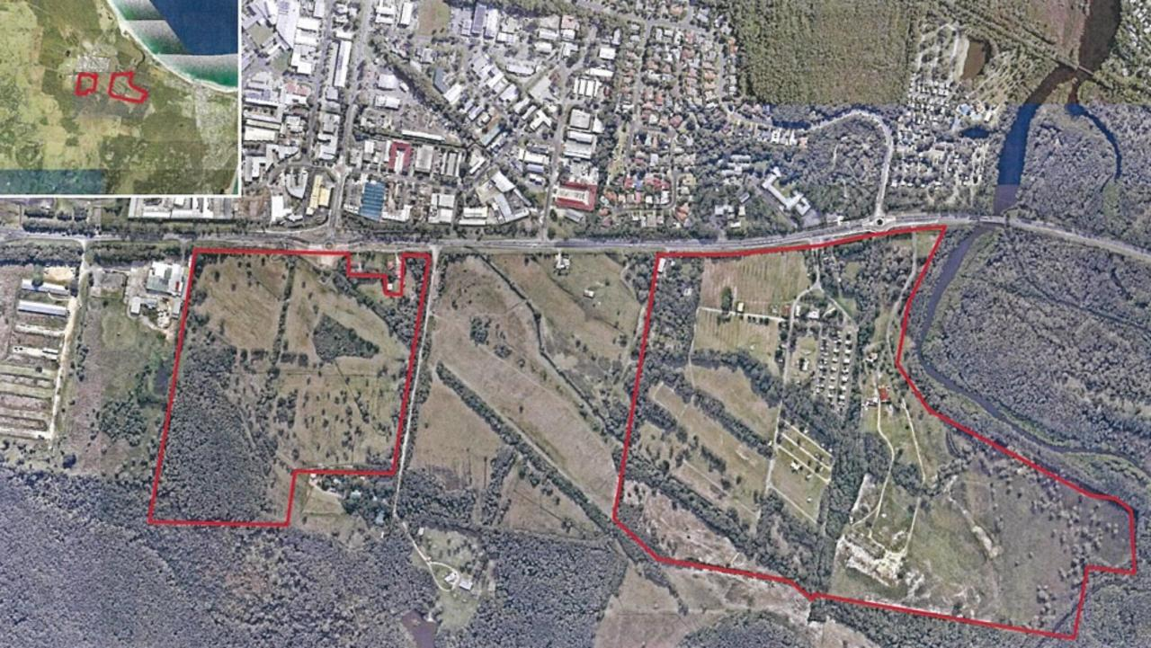 The areas south of Ewingsdale Rd which an amended West Byron subdivision DA relates to.
