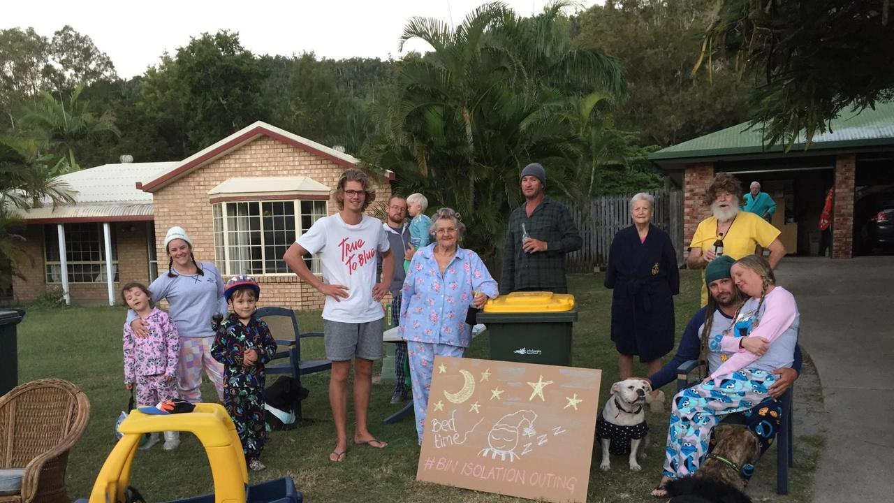 Teague Terrace residents dressed up in a pyjama theme for their bin night.