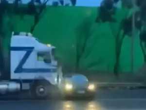Truck driver explains hatchback crash