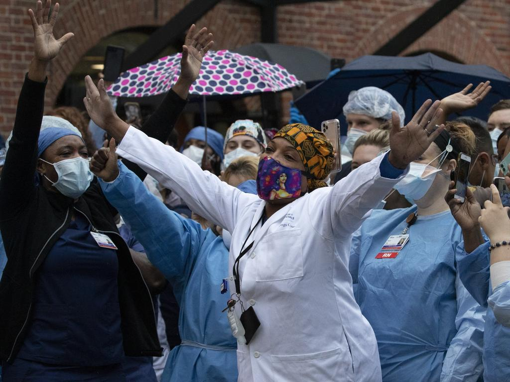 "New York Governor Andrew Cuomo said that New Yorkers who don't wear masks was ""disrespectful"" to the city's medical workers. Picture:"