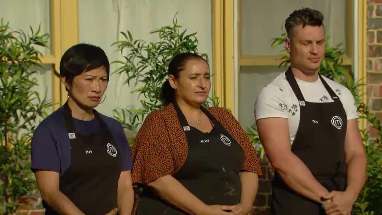 Poh and Ben U were safe in Tuesday's MasterChef: Back to Win elimination. Picture: Channel 10.