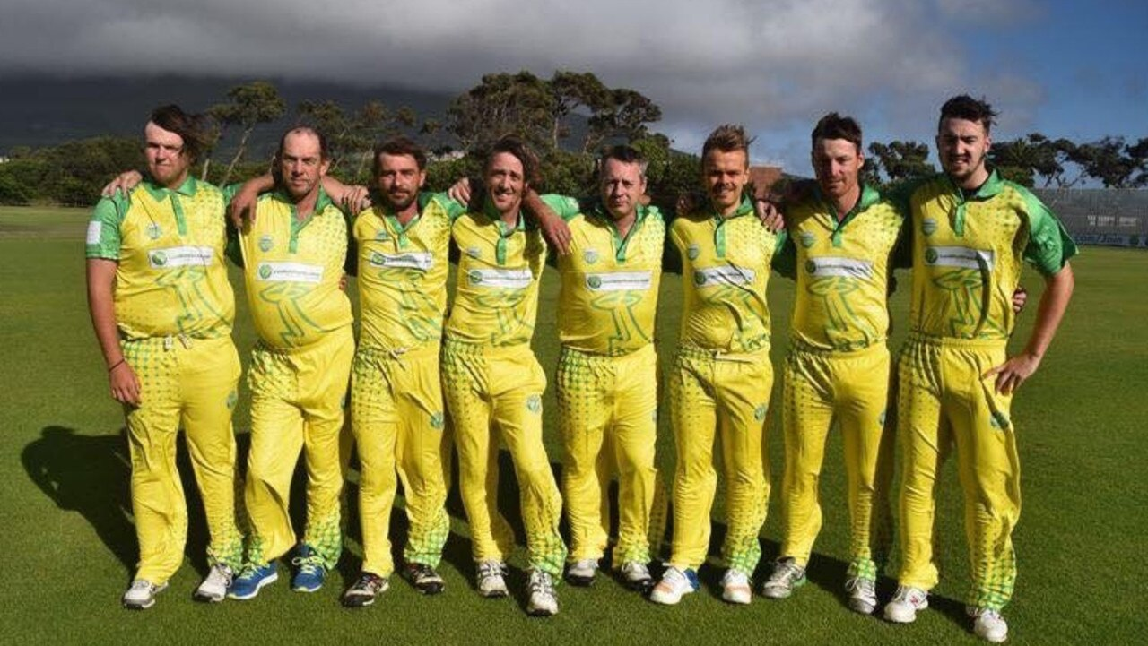 RARE HALF CENTURY: Last Man Stands Ipswich side 'The 2nd XI' is on track to rack up an unprecedented 50 straight T20 triumphs. Pictured: Hayden Donnellan, Gary Copeland, Corey Marshall, Martin Henderson, David Fitchart, Tom Douglass, Brodie Kenyon, Brodie Dwyer. Absent regulars: Jarid Griesbach, Luke Griesbach, Nick O'Connell and Vaughan Oldham.