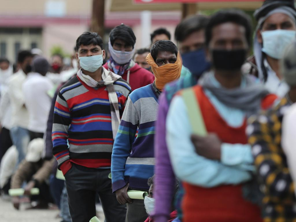 India's six-week coronavirus lockdown has been extended putting the country's 1.3 billion people under restrictions to slow down the spread of the virus. Picture: AP