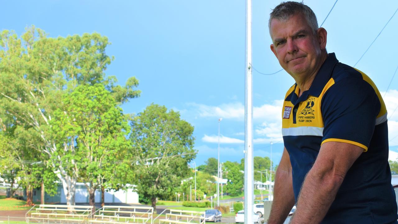 Gympie Hammers president Jason McPherson. Photo: Bec Singh