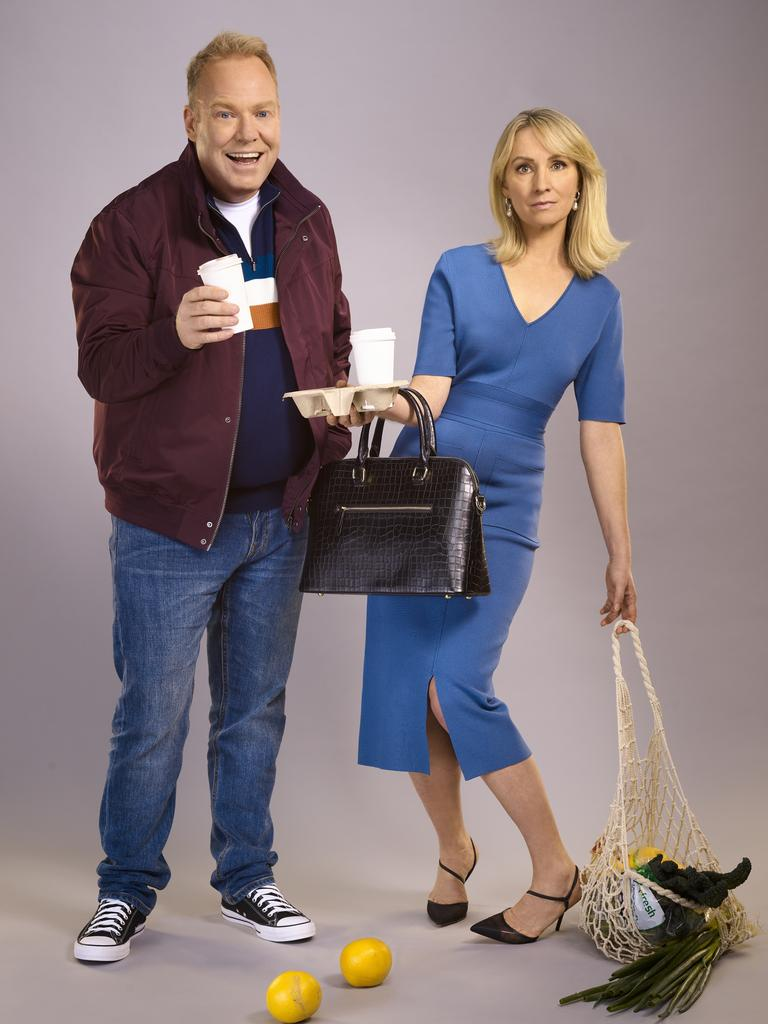 Peter Helliar and Lisa McCune originally played couple Greg and Em on the ABC comedy It's A Date.