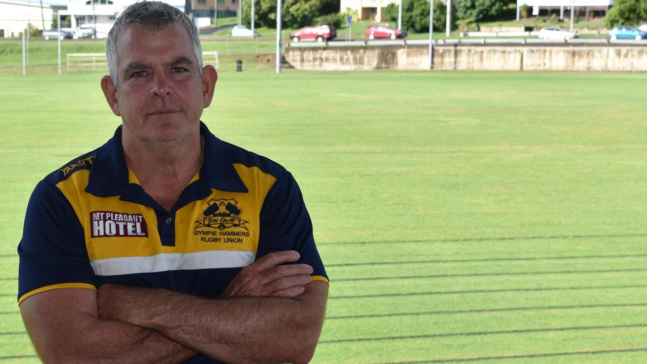 Gympie Hammers Rugby Union Club president Jason McPherson. Photo: Bec Singh