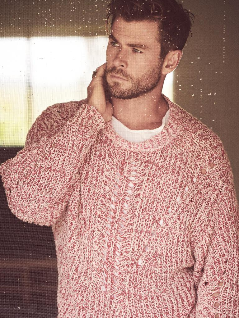 Chris Hemsworth in GQ Australia's May/June issue. Picture: Matthew Brookes for GQ