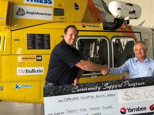 Yancoal continues flying with RACQ Capricorn service