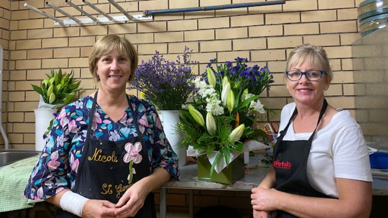 FLOWER POWER: Di Gracie (left) and St George Florist and Gifts owner Nicole Brimblecombe (right) are expecting a rush before Mother's Day.