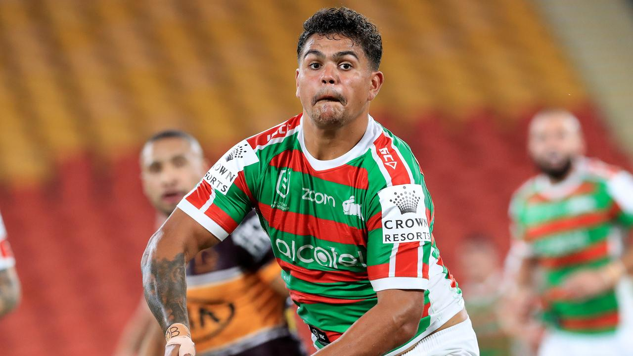 Latrell Mitchell In action during the Round 2.