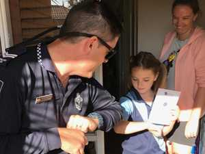 Students get shock home visit from police