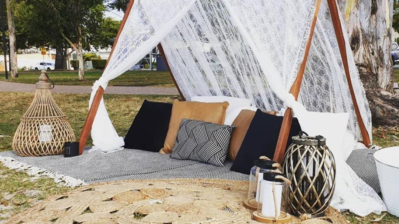 CELEBRATE: Bec Peard from Alpaca Picnics is creating outdoor spaces for intimate celebrations during coronavirus restrictions. Photo: Alpaca Picnics