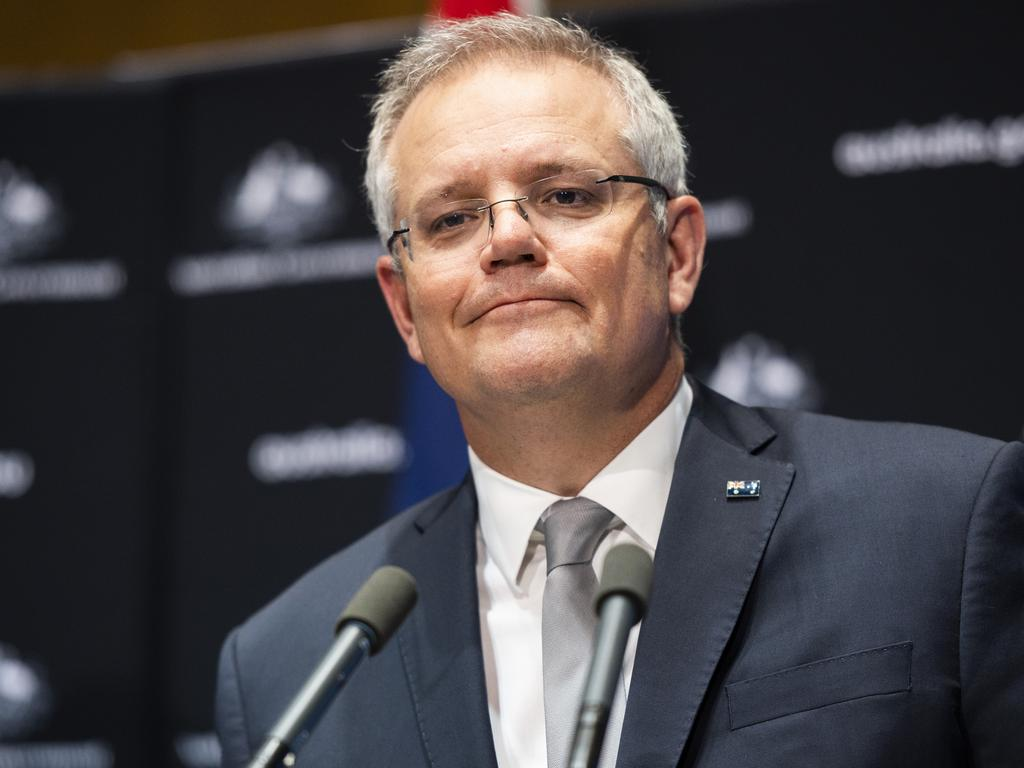 Scott Morrison pledged $352 million to global fundraiser to find a coronavirus vaccine. Picture: Getty Images