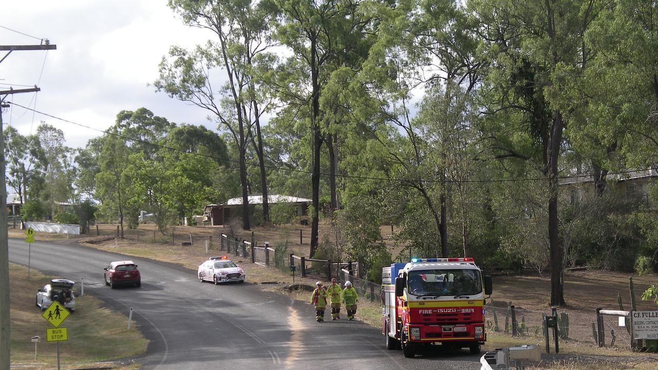 The aftermath of the car crash on Australia II Drive, Kensington Grove.