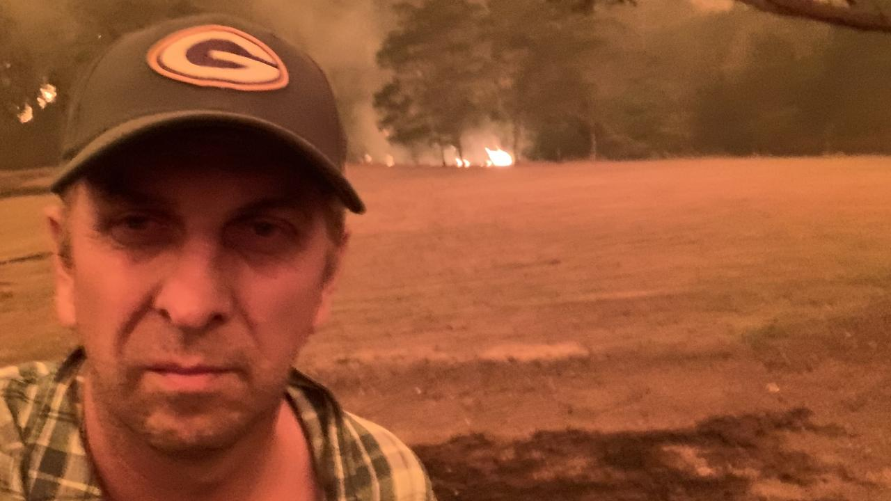 Andrew Constance, during bushfires, as fire approached his property on December 31, 2019