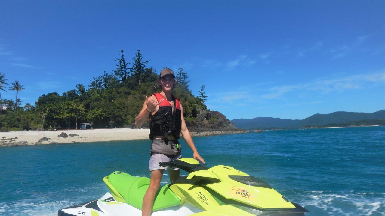 BACK OUT: Whitsunday resident Kyle Kendall on the first tour back out on the water for Whitsunday Jetski Tours after coronavirus measures were eased.