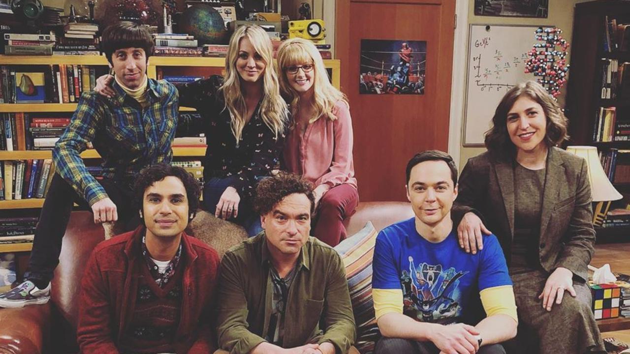 Melissa Rauch and her Big Bang Theory co-stars.