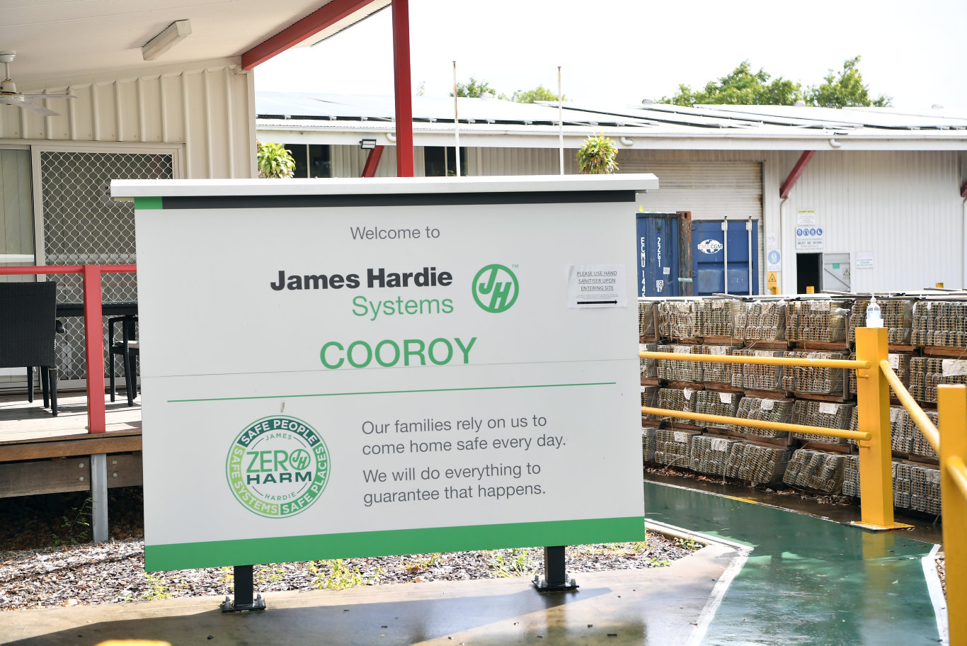 Construction industry supplier James Hardie is closing down its Cooroy plant. Photo Patrick Woods / Sunshine Coast Daily.
