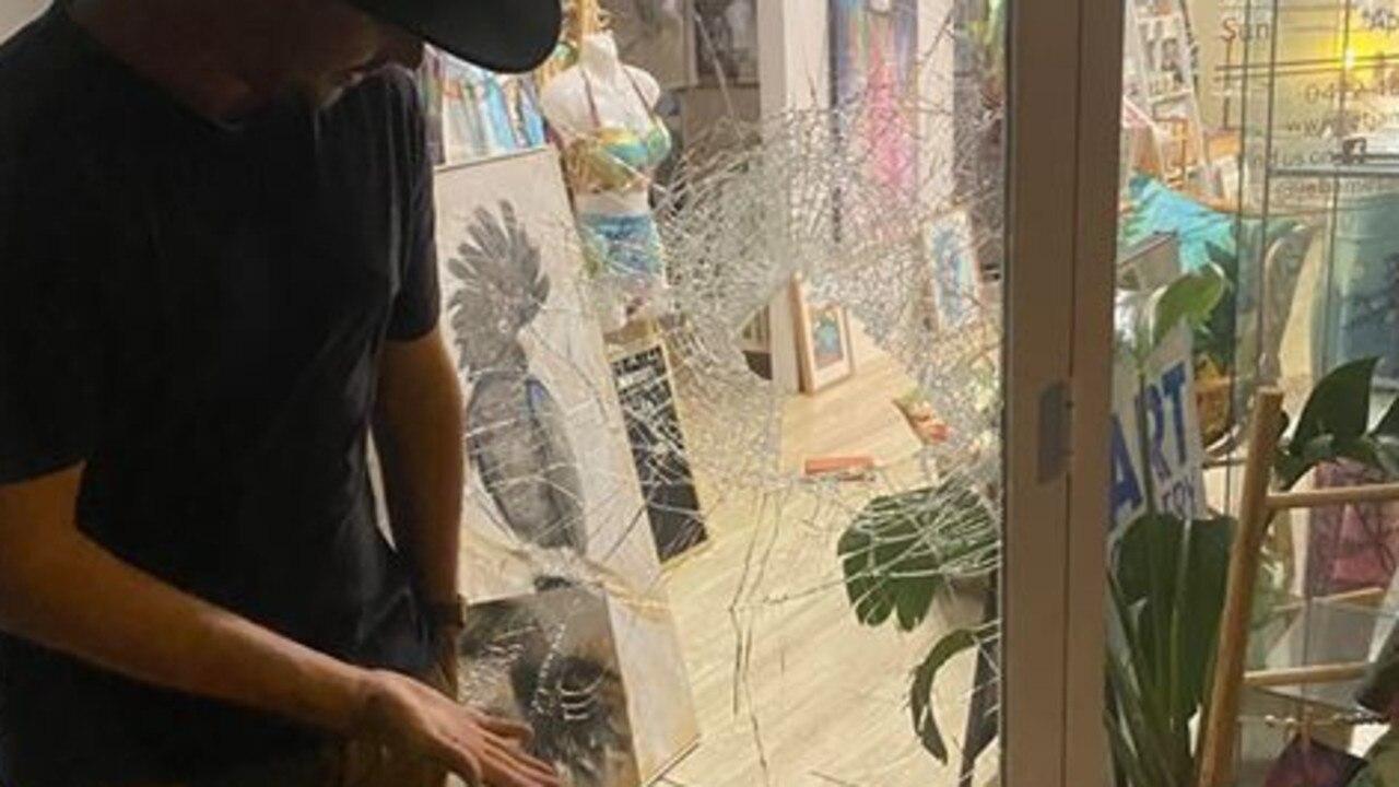 Jet James Art Gallery was broken into last night on Yeppoon's main street