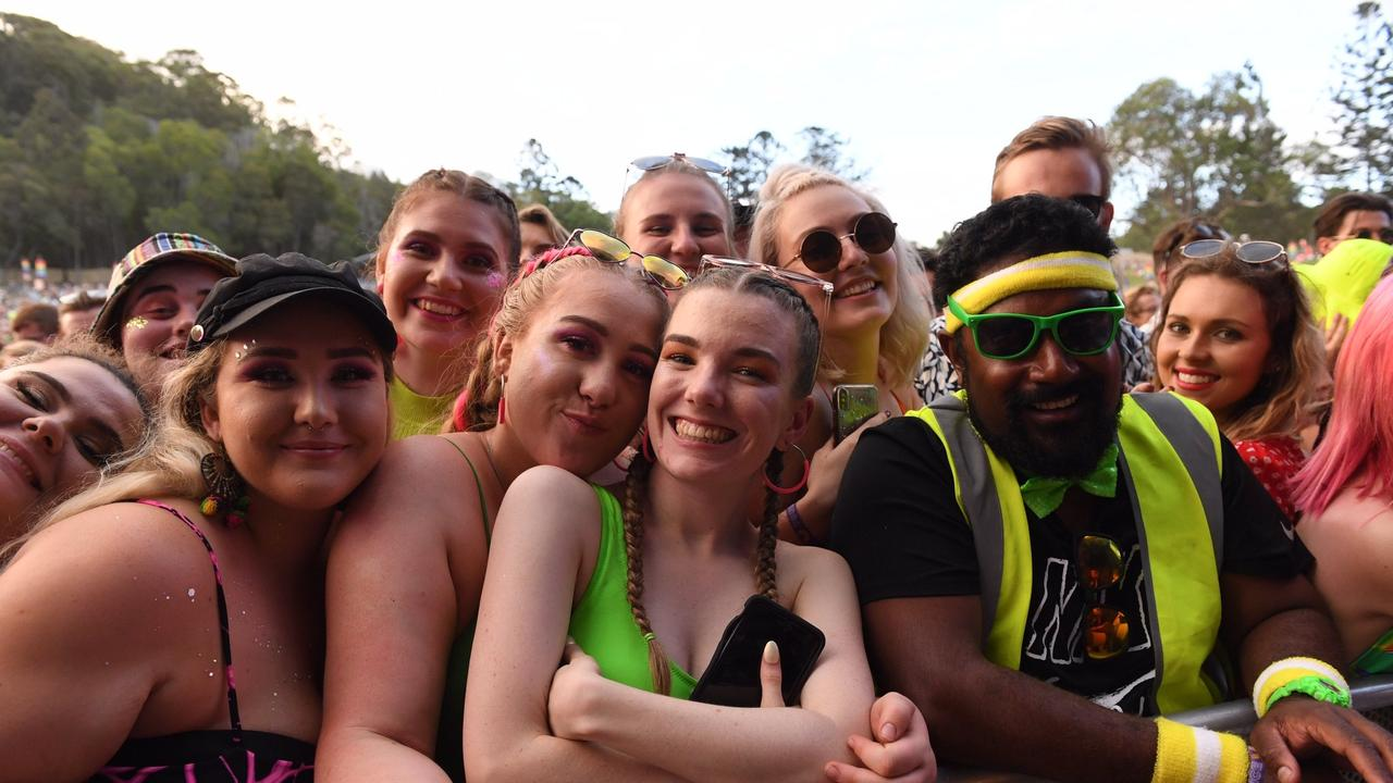 FUN AT A SHORT DISTANCE: Neon colours at Falls Festival Byron Bay 2019/20.