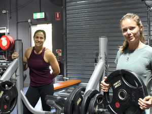 HEAVY LIFTING: Gym helps members get fit at home