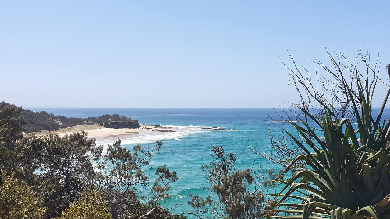 North Stradbroke island is in lockdown to protect residents from the spread of Covid-19. Picture: AAP Image/Cheryl Goodenough