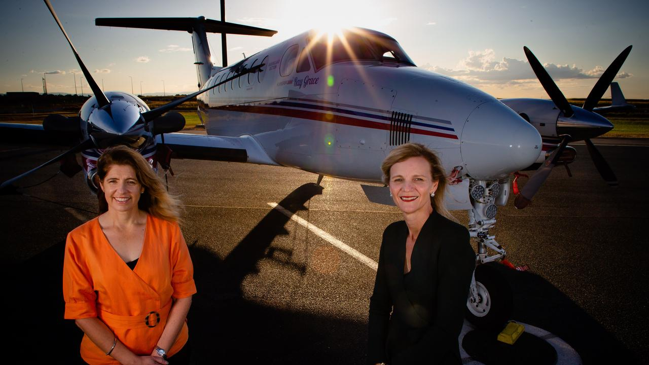 TEAMING UP: Rio Tinto Aluminium Pacific Operations managing director Kellie Parker and Royal Flying Doctor Service (Queensland Section) chief executive Meredith Staib.