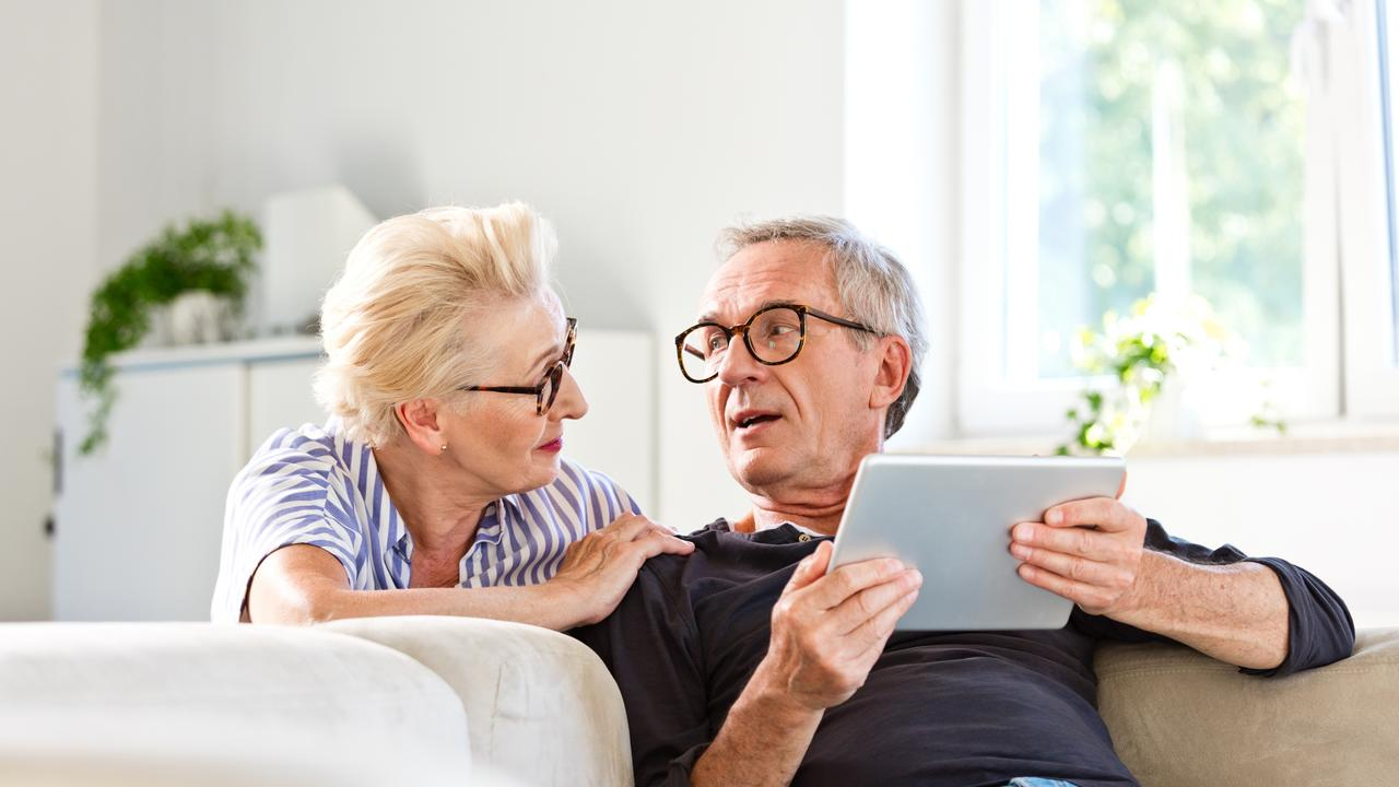 Senior couple spending time together at home