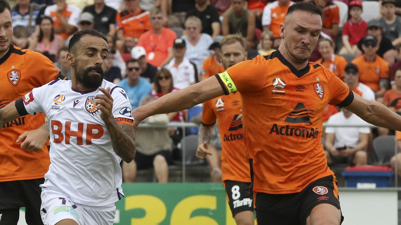 Roar visa player Tom Aldred stayed in Australia during the shutdown.