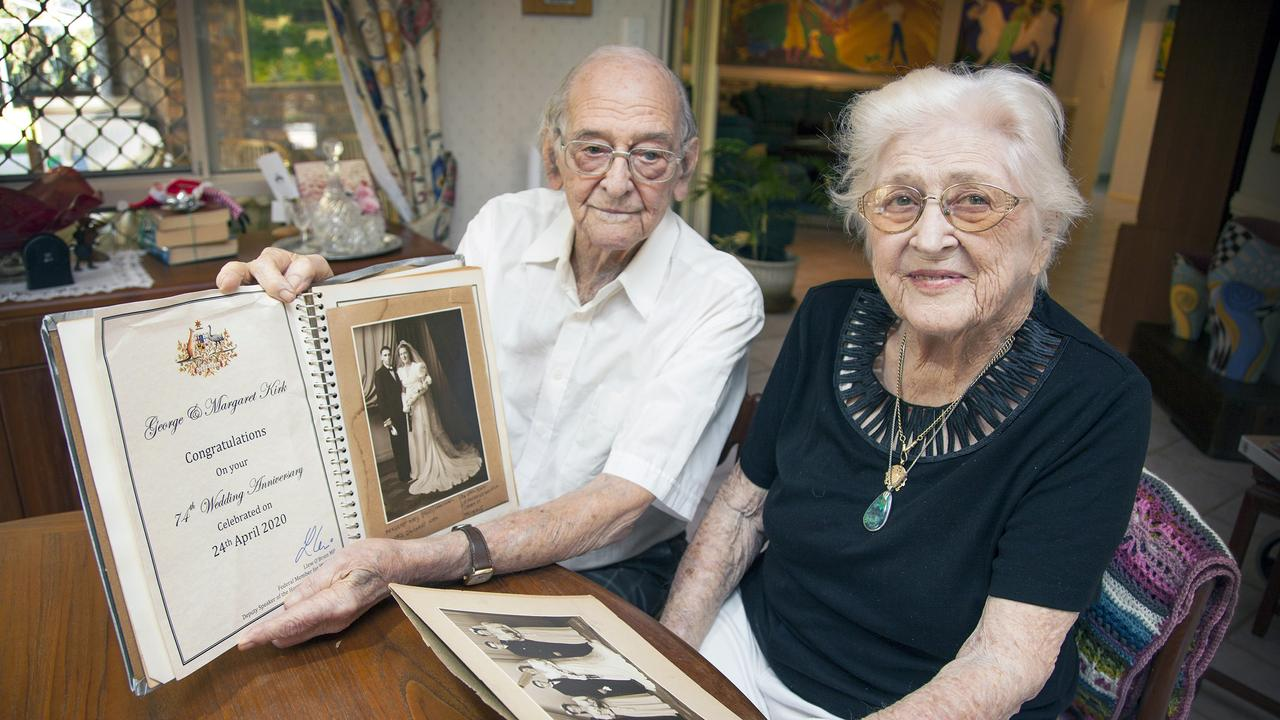 George and Margaret (Peggy) Kirk have celebrated their 74th wedding anniversary.