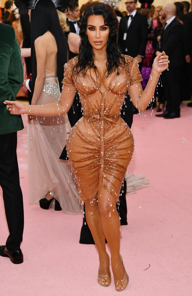 Kim at last year's Met Gala. Picture: Dimitrios Kambouris/Getty Images for The Met Museum/Vogue