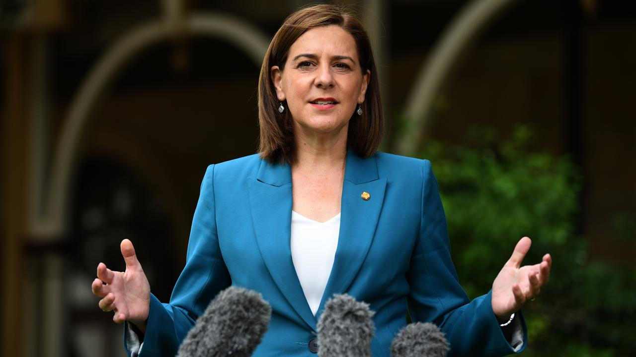 Queensland Opposition Leader Deb Frecklington has laid out her party's road map to recovery plan. (AAP Image/Dan Peled)
