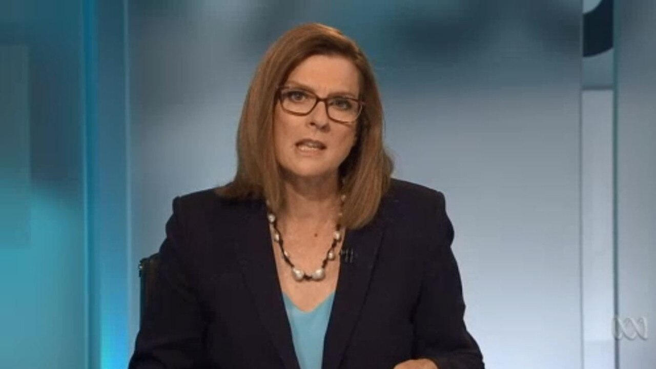 ABC personality was among the station personalities criticising the report. Picture: 7:30