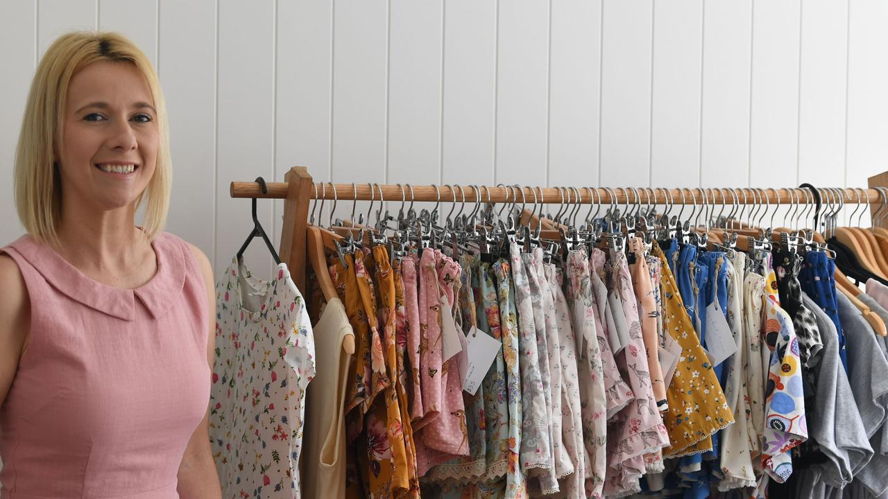 Heidi designs vintage-inspired sleepwear from her home in Gympie, and her store is stocked ready for Mother's Day. Picture: Shane Zahner