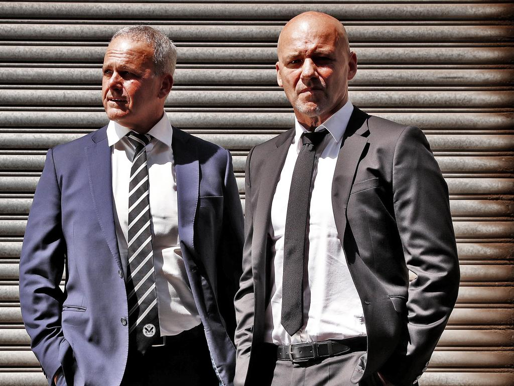 Gary Jubelin pictured with retired Detective Inspector Angelo Memmolo. Picture: Sam Ruttyn