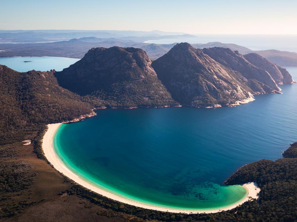 Stunning Wineglass Bay on Tasmania's east coast. Picture: Tourism Australia
