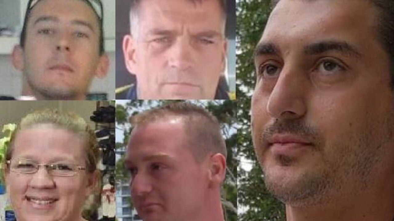 GYMPIE FRAUDSTERS: (Clockwise from top left) Kyle Andrew Alve, David Maxwell Moore, brothers Charles Jacob Caston and Reenarto Caston and Jodianne Kretschmer.