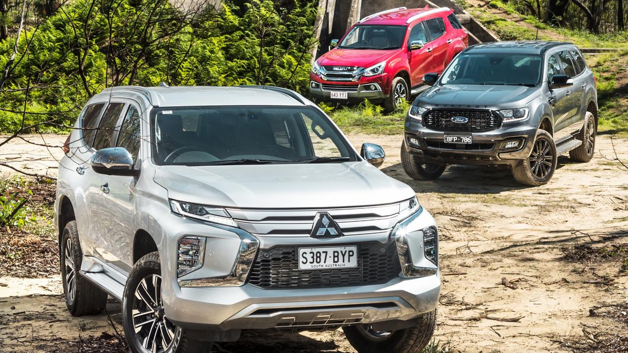 Ford Everest, Mitsubishi Pajero Sport and Isuzu MU-X. Photo by Thomas Wielecki.