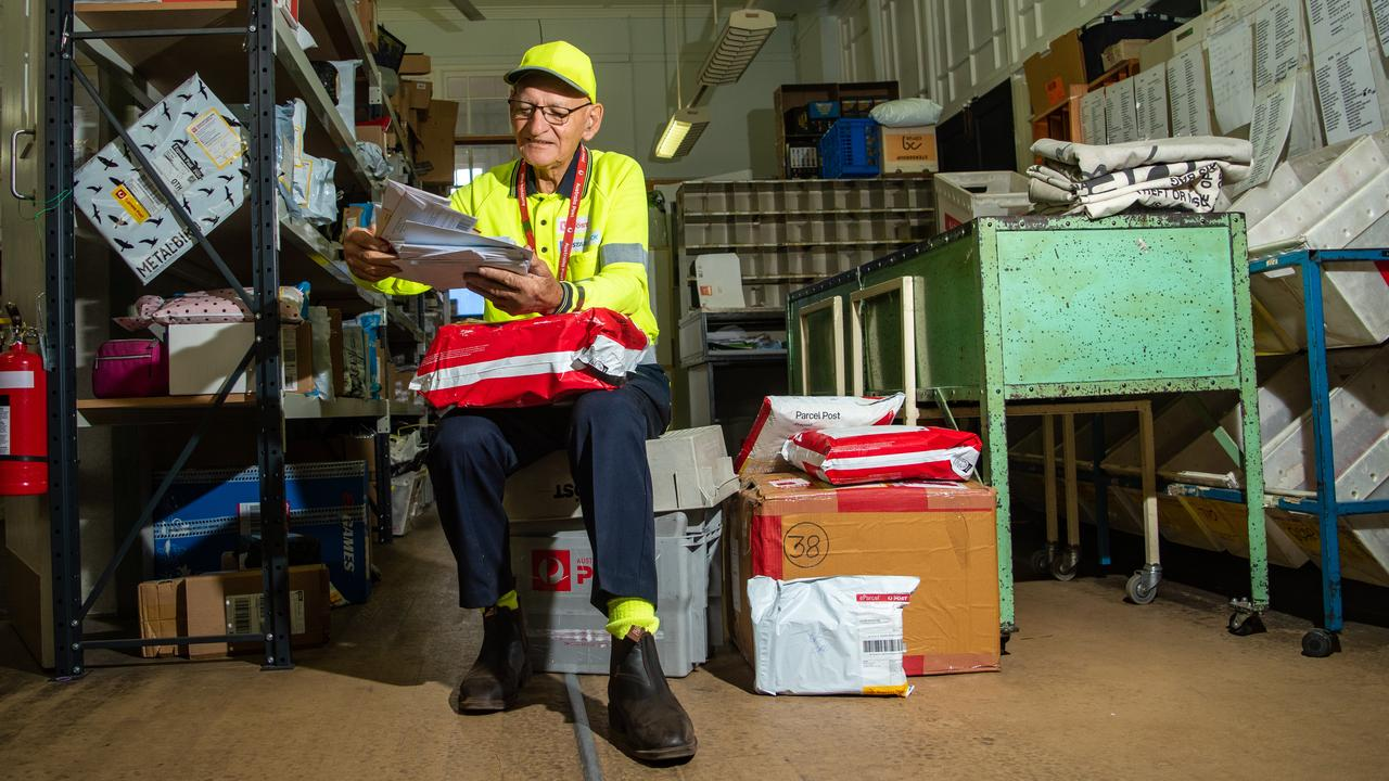 ESSENTIAL WORKER: Laidley Post Office contractor Harold Schulz sorts through some mail. PHOTO: Ali Kuchel