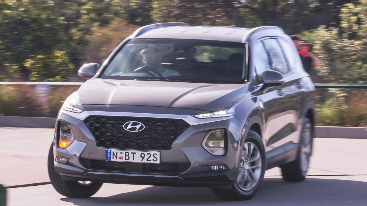 The big Hyundai Santa Fe has had its price slashed. Photo: Thomas Wielecki