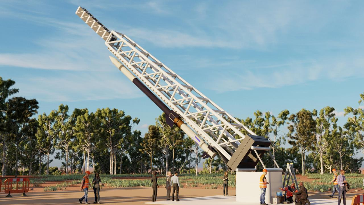 An artist's impression of the East Arnhem Land space launch facility. Picture: Supplied