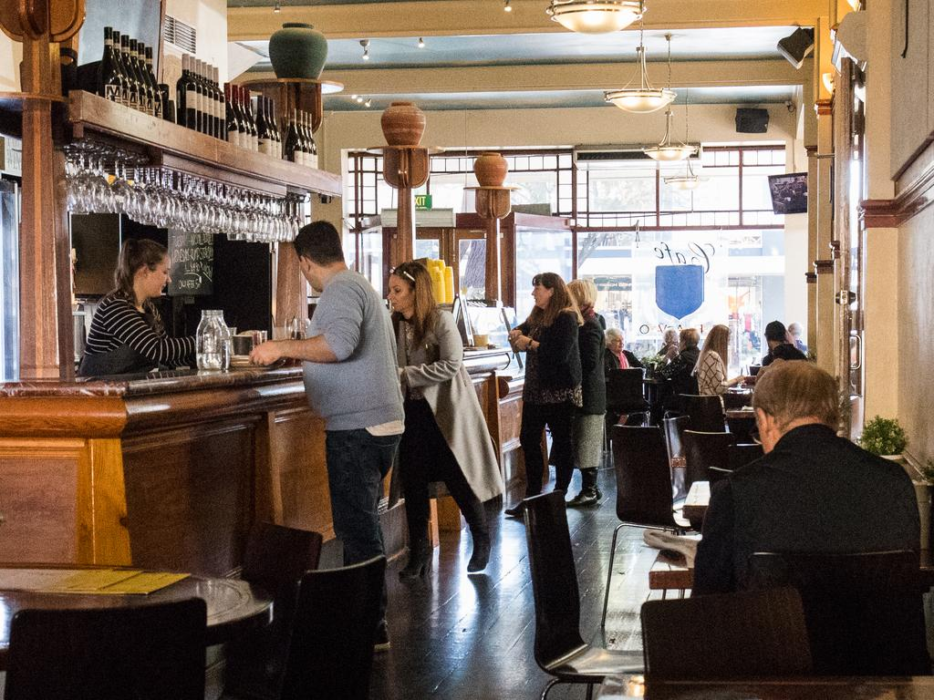When we return to bars, we won't be spending much time standing at them. Picture: Matt Loxton