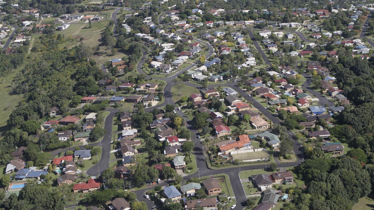 Aerial of Lismore, Suburbia. Photo Jay Cronan