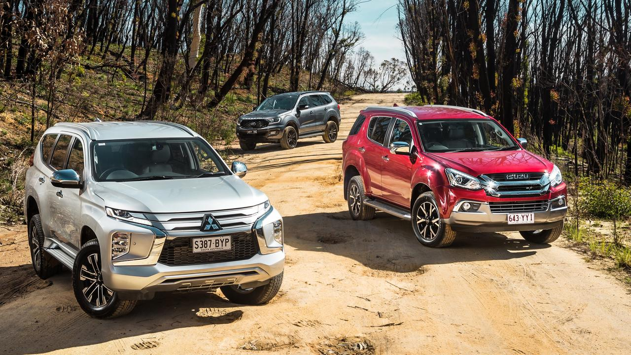 Mitsubishi Pajero Sport, Isuzu MU-X and Ford Everest are all based on utes. Photo by Thomas Wielecki.